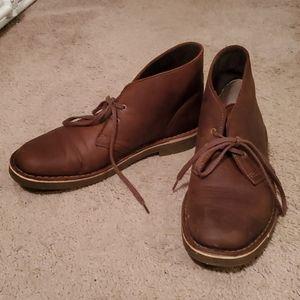Men's Clark's Leather Desert Boots